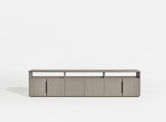 "New case goods innovation ""Forena"" Credenza by Nucraft Furniture."