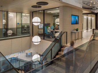 Danzer Linea Black Birch Veneer Enhances New Corporate Offices in Atlanta